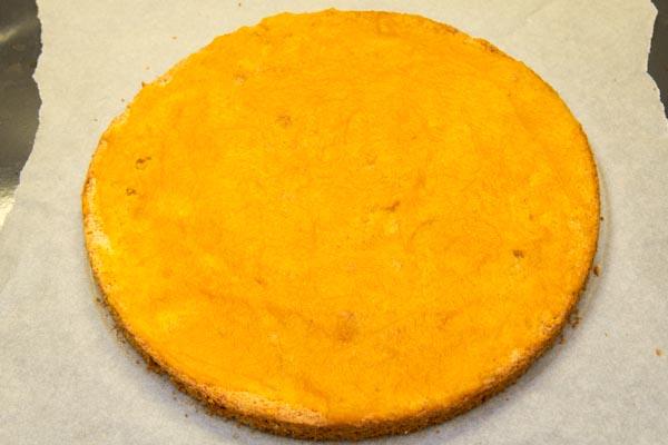 Бисквит из тыквенного пюре