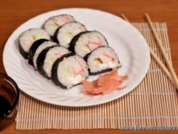 роллы с крабовым мясом рецепт с фото