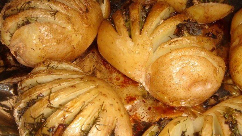 Картошка гармошка рецепт с грибами