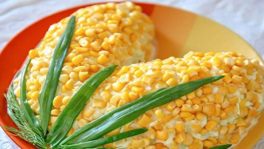 Салат с кукурузой консервированной без майонеза