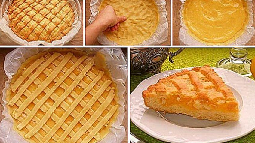 Лимонник пирог из песочного теста рецепт с