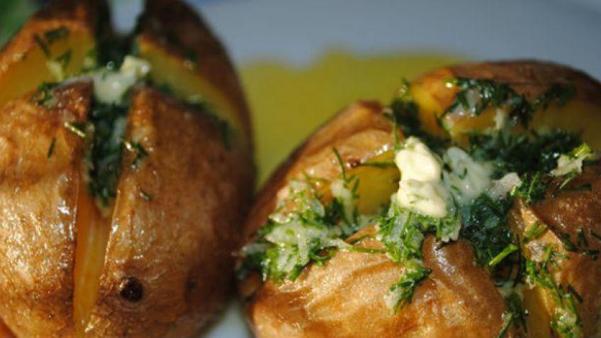 Рецепт запечённого картофеля с чесноком